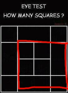 Eye    Test     How Many Squares Are In The    Diagram      Forum