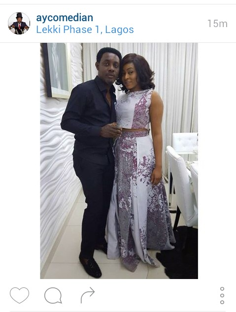 Comedian AY Dispels Marital Issue,. Shares Photo With Wife Mabel.