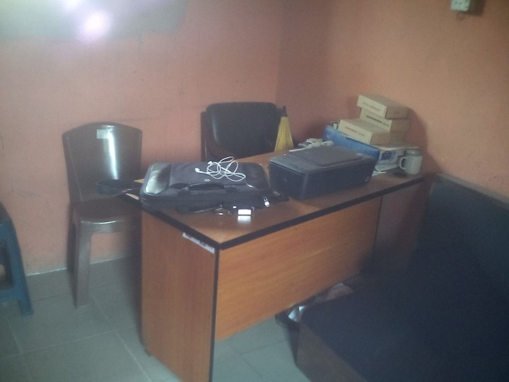 A One Room Office With Computers And Furniture For Business Sale ...