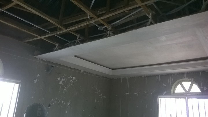 Modern pop ceilings plus interior finishing and many more process pictures properties for Pop design for home ceiling pop