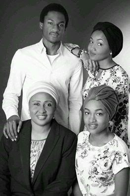 Photo Of Aisha Buhari And Three Of Her Children