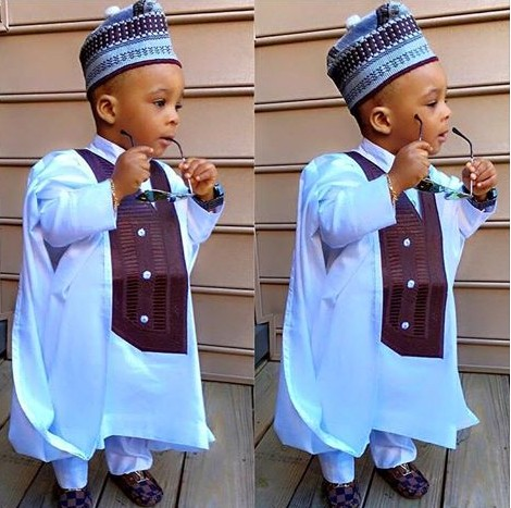 Boy Looks Dapper Rocking Agbada Photo Fashion Nigeria