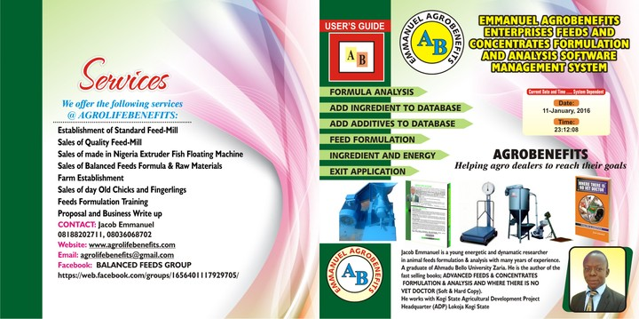 Cattle Feed Formulation Software