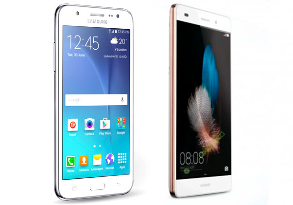 compare samsung galaxy j5 vs huawei p8 lite phones nigeria. Black Bedroom Furniture Sets. Home Design Ideas