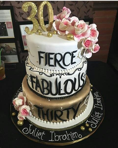 See juliet ibrahim massive 30th birthday cake made in for 30th birthday decoration ideas for her