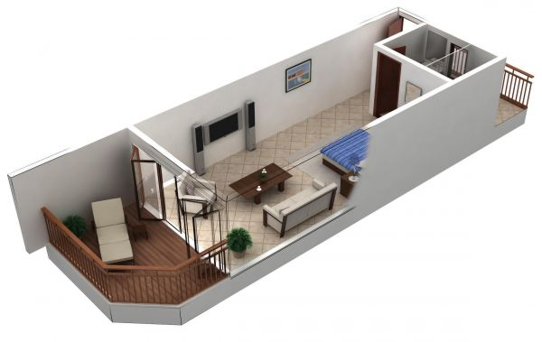 Keeping it simple n clean by introducing l pad studio for Studio apartment building plans