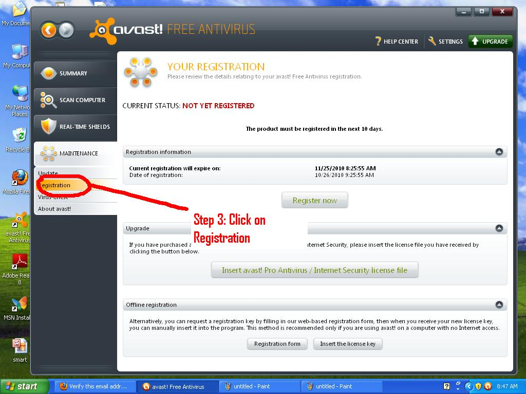 how to get my avast license key