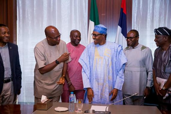 » Buhari Receives Officials Of NUPENG And PENGASSAN At State House (Photos)