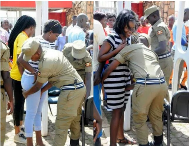 Omg    See How Ugandan Security Men Touch Women U0026 39 S Private