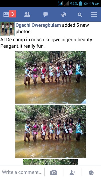 [Photos] Girl Posts About Beauty Pageant In Okigwe On Facebook And Got Blasted