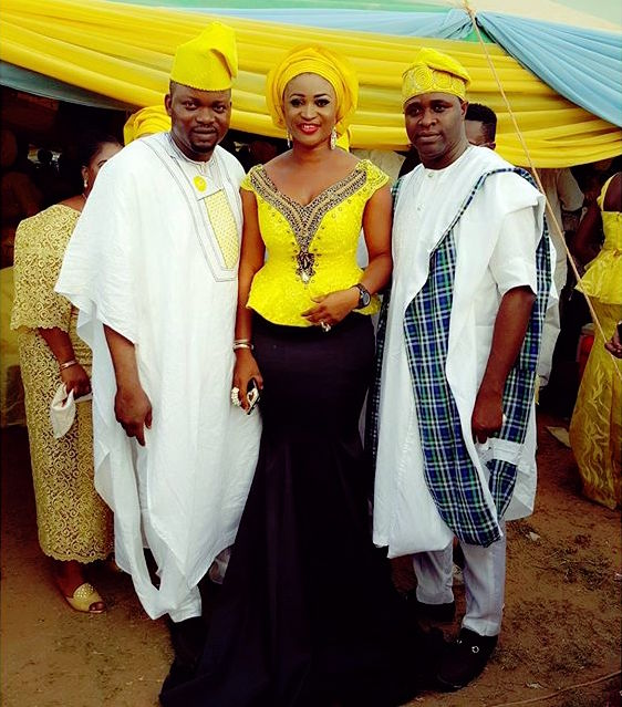 Hairstyle For Brothers Wedding: Mercy Aigbe,Mide Martin At Fathia Balogun Brother's