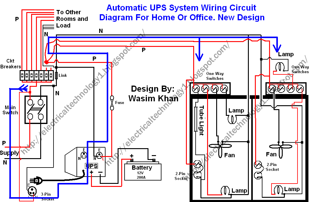 Wiring Circuit Diagram For Inverter Grid And Generator