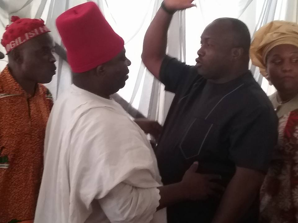 Ifeanyi Ubah Meets With Victor Umeh At A Prominent Funeral In