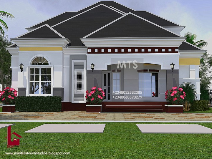3 Bedroom Bungalow With Pent Floor Re Architectural Designs For Nairalanders