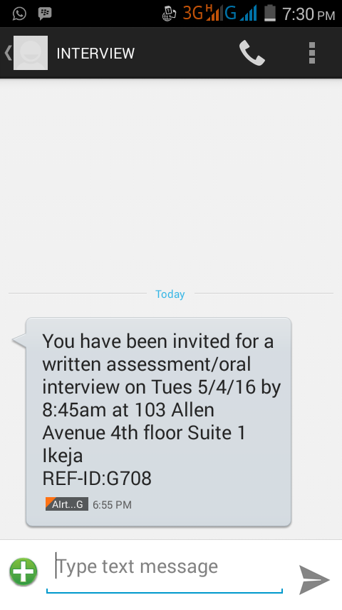 I Need Your View About This Anonymous Sms Interview - Jobs