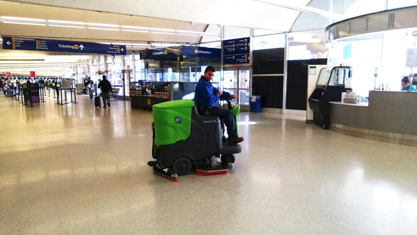 Cleaners Mopping The Floor Of Enugu Airport Travel Nigeria
