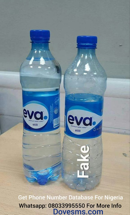 HOW TO KNOW Original & Fake Eva Bottled Water- Photos - Food - Nigeria