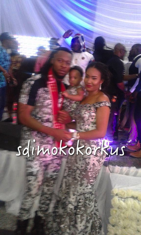 Flavour And Anna At His Father's Birthday Celebration