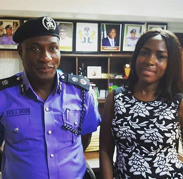 Linda Ikeji With Lagos Police Commissioner After Wizkid Apologized - Celebrities