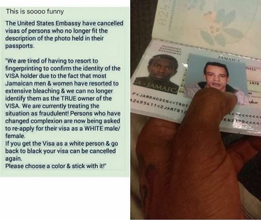 OMG!! This Man's Visa Was Cancelled Because He Bleached His Skin