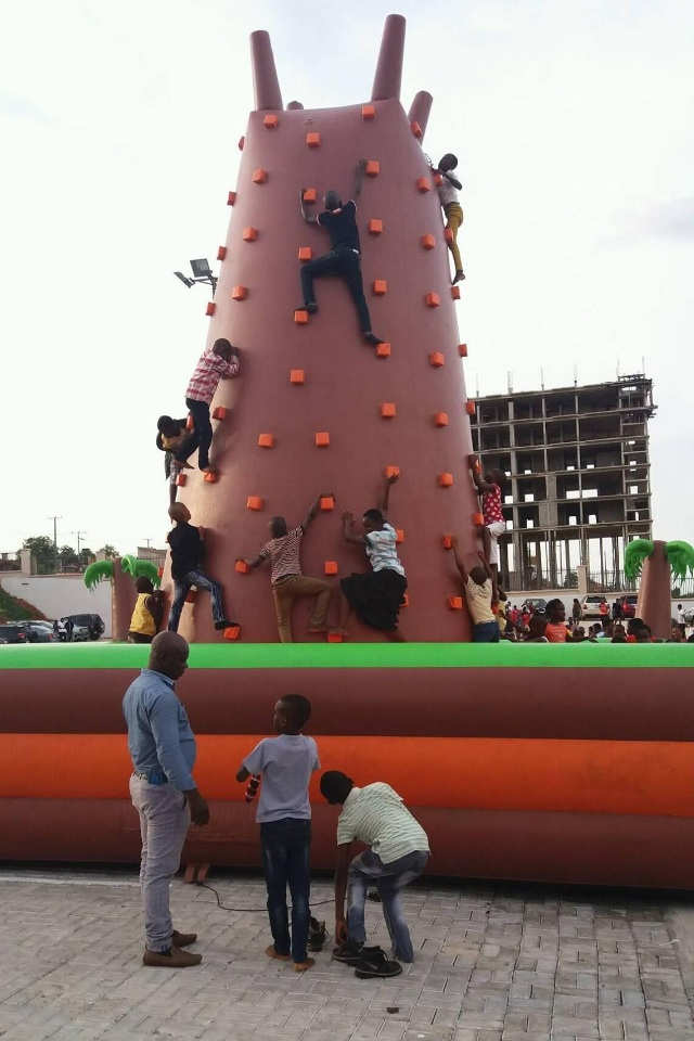 Children Playing At The Premises Of Onitsha Mall