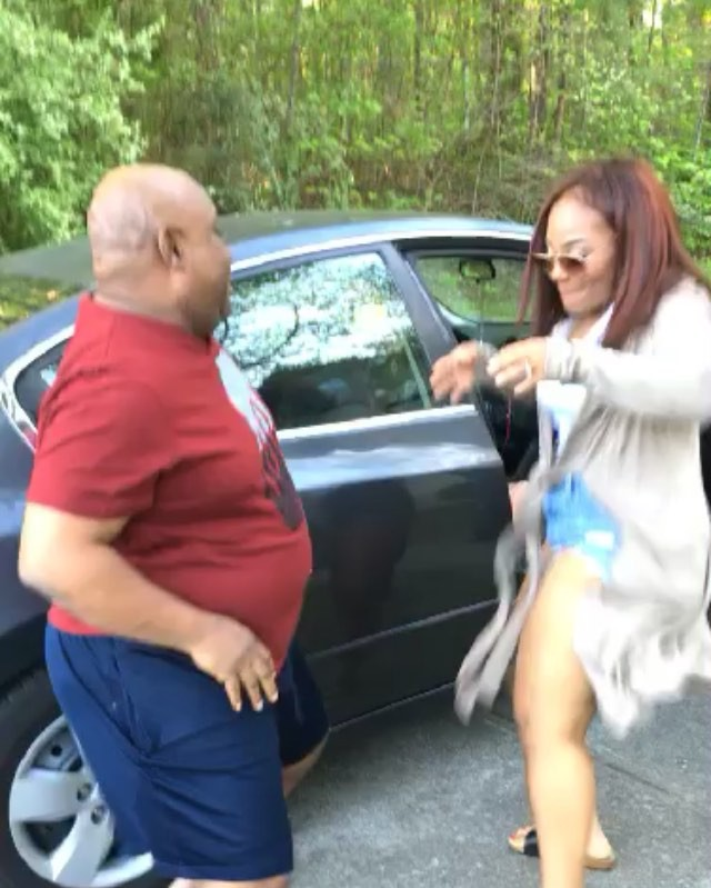 Nikos Adeleke Dancing With His Father Like They're Lovers (video,pics)