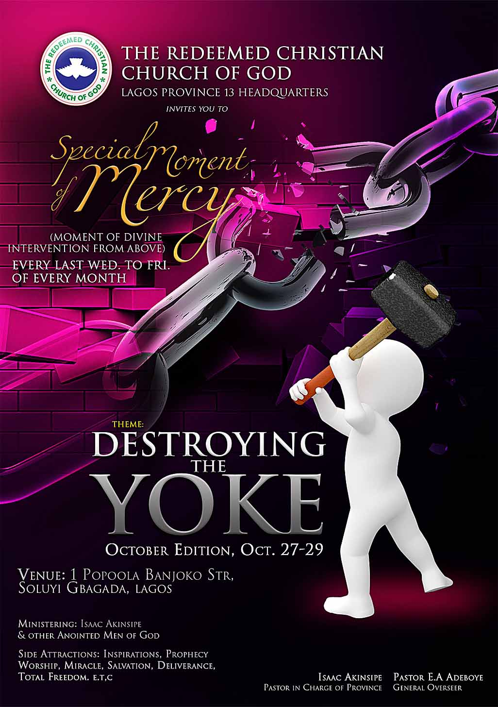 breaking the yoke of the discrimination Pulling down strongholds author:  bigotry seizes the minds of people and discrimination against individuals because of the color of their skin colors everything.