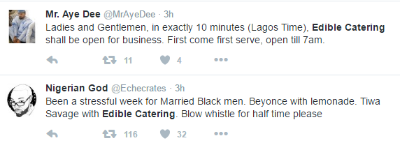 Nigerians Pounce On Edible Catering For Cheating With Tiwa Savage's Husband (See Photos)