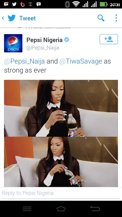 Tee bilz vs Tiwa: See what Pepsi did to Tiwa Savage's Endorsement deal