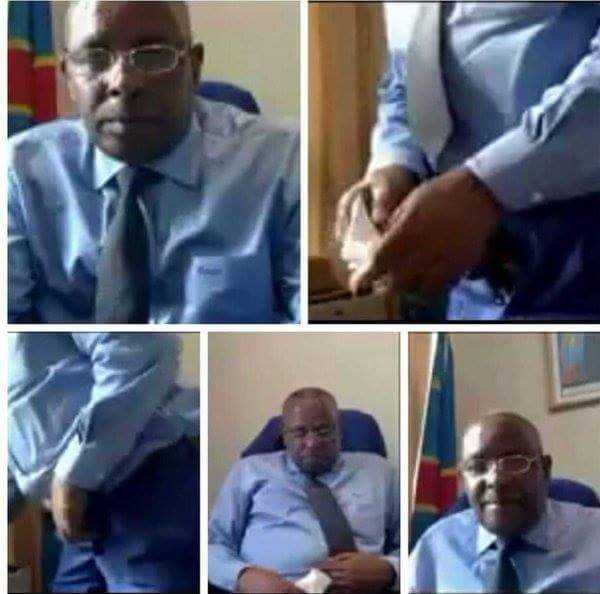 photo of Congolese Govt official masturbating in his office
