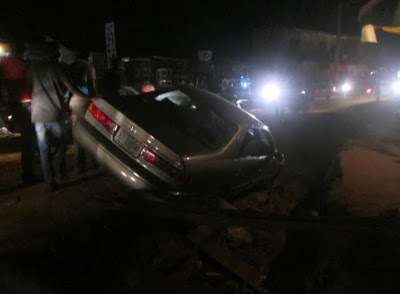 Dangerous Gutter At Alapara Junction Akute, Causing Accidents (See Photos)