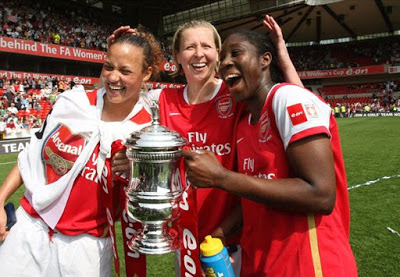 Asisat Oshoala Wins FA Cup With Arsenal Ladies