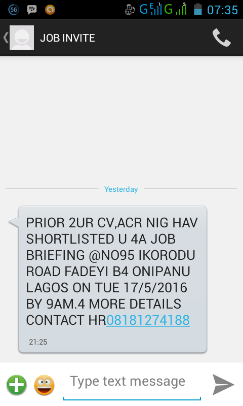 Scam alert see invitation to interview i got last nightscreenshort scam alert see invitation to interview i got last nightscreenshort jobsvacancies nairaland stopboris Choice Image