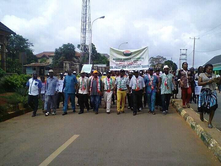 NLC Strike: ASUU UNIZIK Chapter Protests Today in Awka