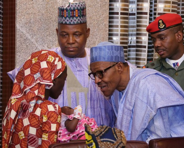 Just In: Found Chibok Girl Meets President Buhari (Photos)
