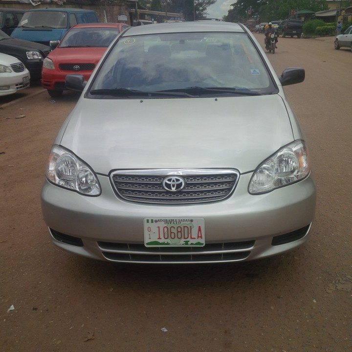 Super Clean Accident Free Tokunbo Toyota Corolla 4 Sale