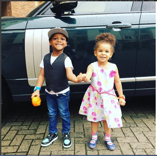 Image result for Peter Okoye's kids twins