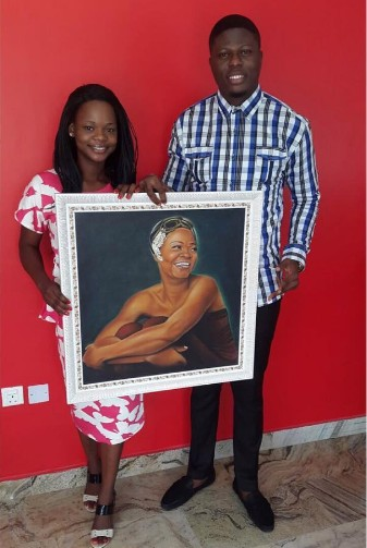 Medical Doctor Gives Olajumoke  Painted Portrait