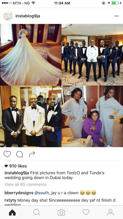 See Hilarious Comments About Toolz Wedding In Dubai (See Photos)