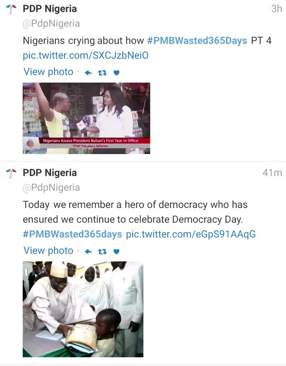 2016 Democracy day: #PMBWasted365days Trends on Twitter (Photos)