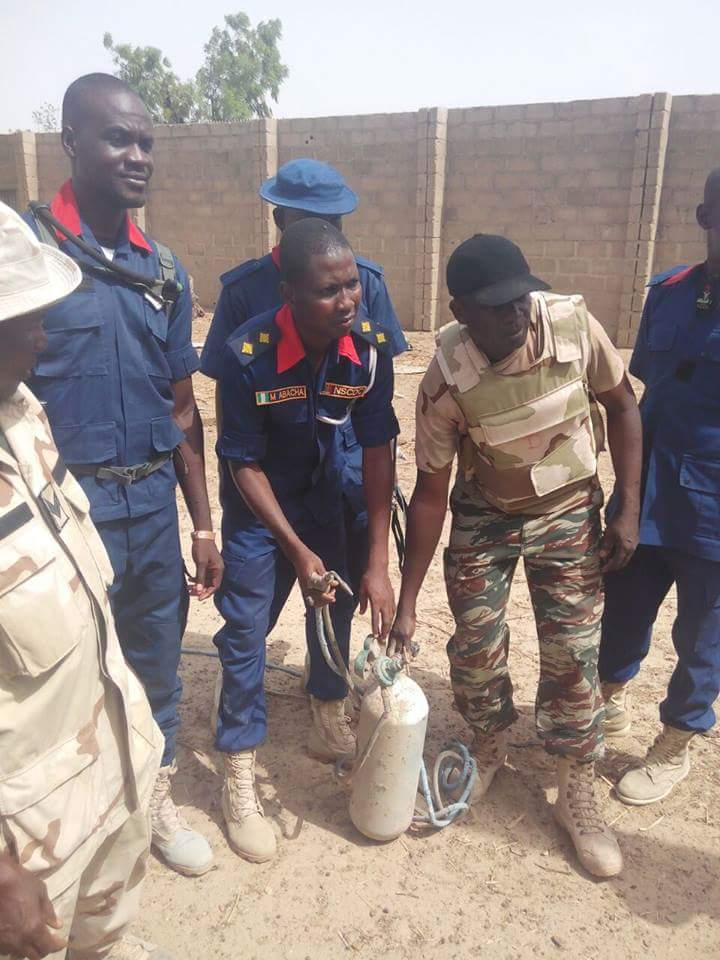 Security Agents At The Bomb-Making Factories In Borno