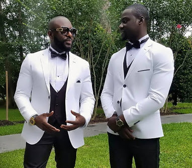 Jim Iyke & Chris Attoh Looking Dapper In Suit On A Movie Set In Texas (See  Photos) - 9jaflaver