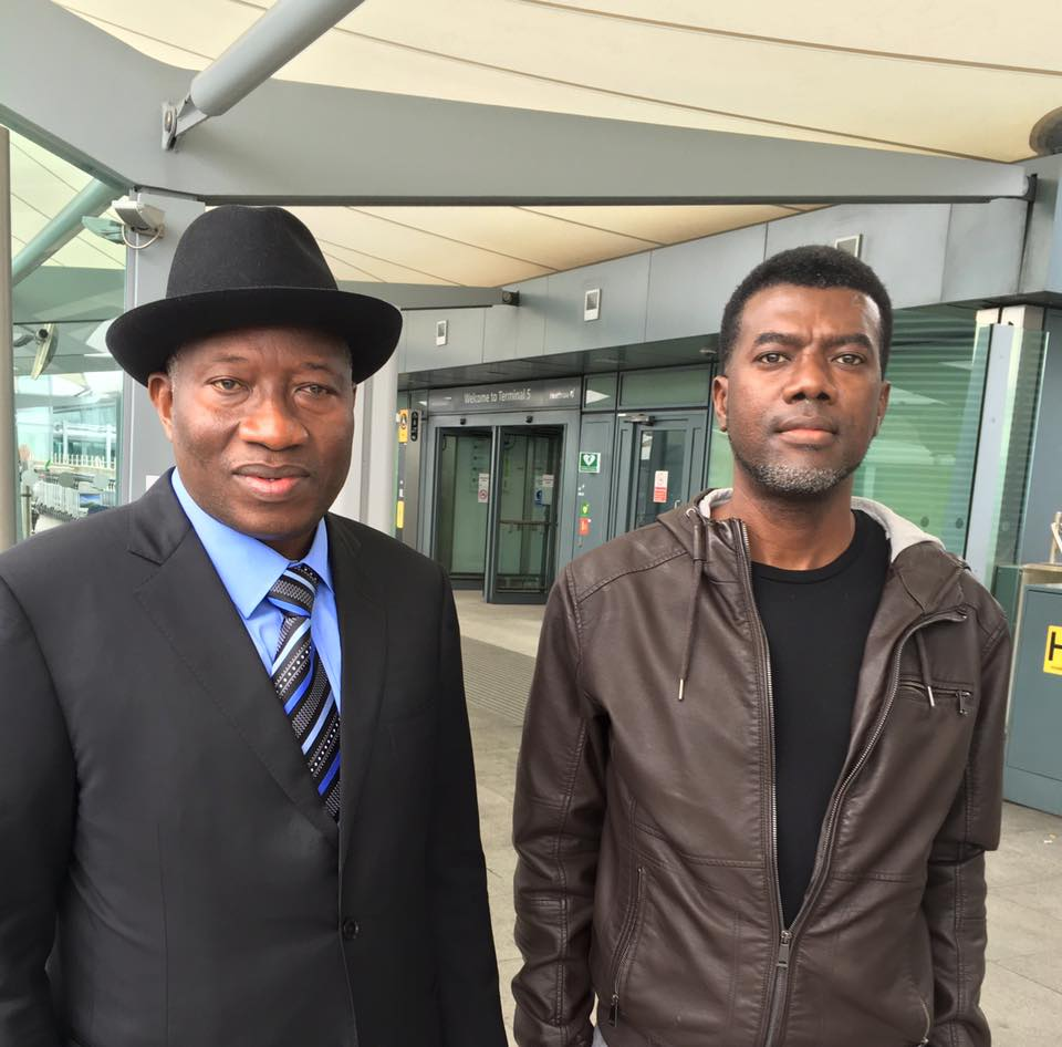 Photo Of Dr Goodluck Jonathan At London Heathrow With Reno Omokri