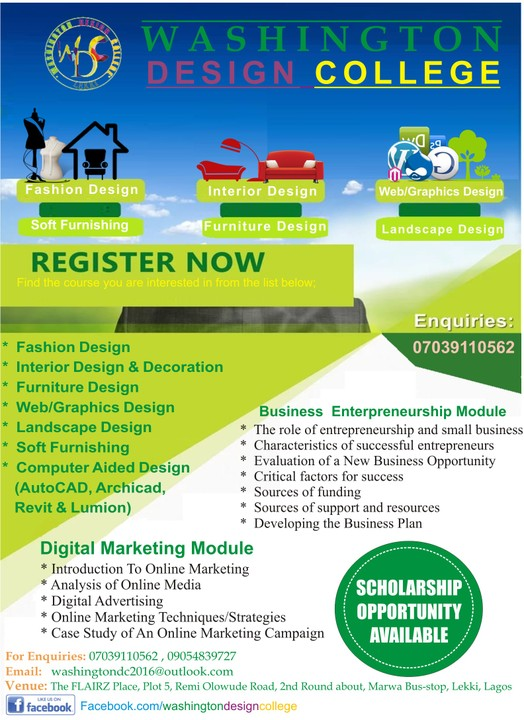 Check Washington Design College They Offer All Deign Courses Interior And Decoration Fashion Web Graphics Etc
