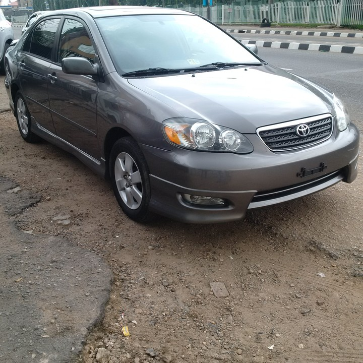 SOLD ! Tokunbo 2007 Toyota Corolla Sport