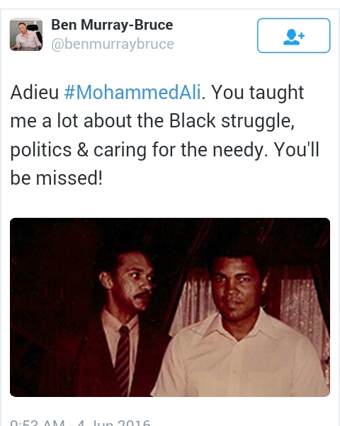 Late Mohammed Ali With Senator Ben Murray-Bruce