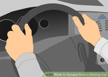 how to get out of a sinking car