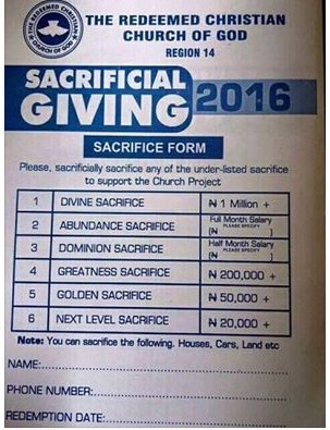 Rccg Going Public As A Plc, See The Ipo Form (pic) - Investment
