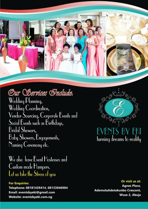 Wedding And Event Planner In Abuja Lagos Amp Available To