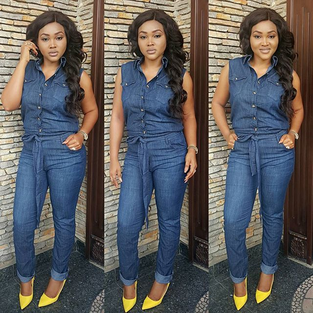 Image result for Jumpsuit on Mercy Aigbe